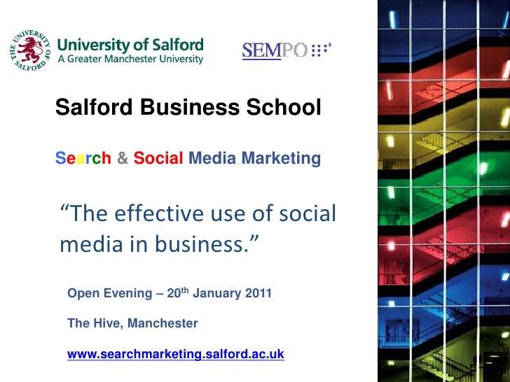 Search Social Media Marketing Open Evening