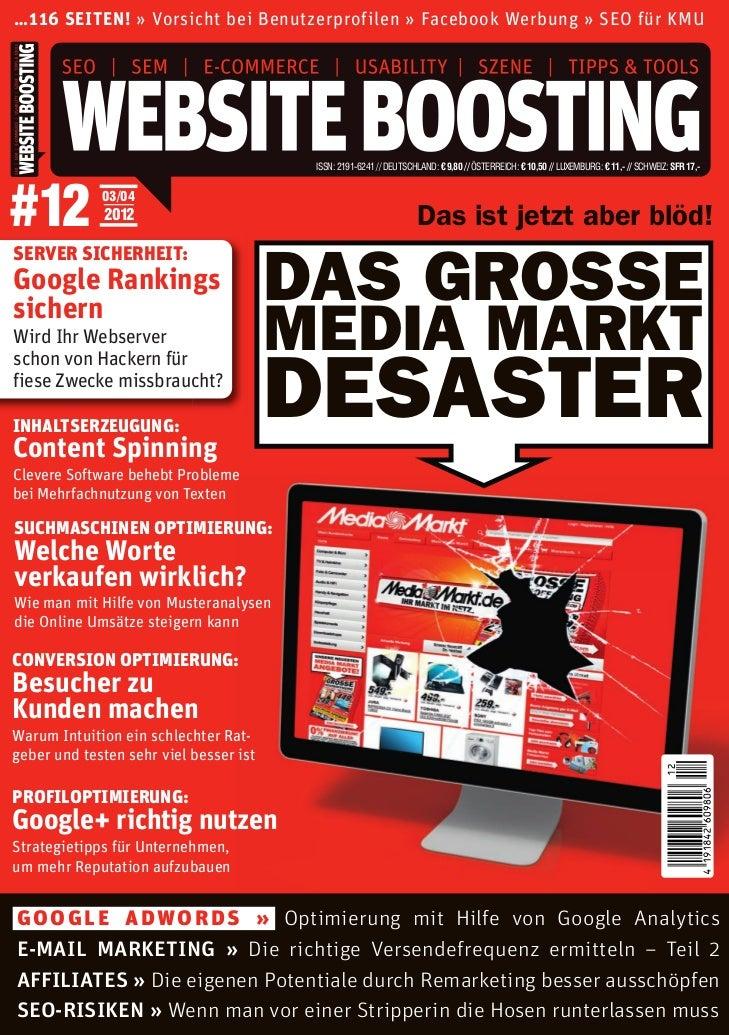 Wer suchet, der findet! Wirklich? Marc Duch Website Boosting 03/04 2012