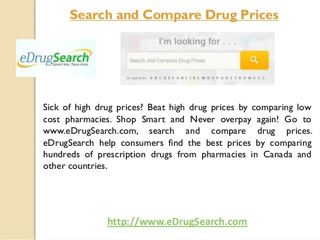 Search and compare drug prices at e drugsearch.com