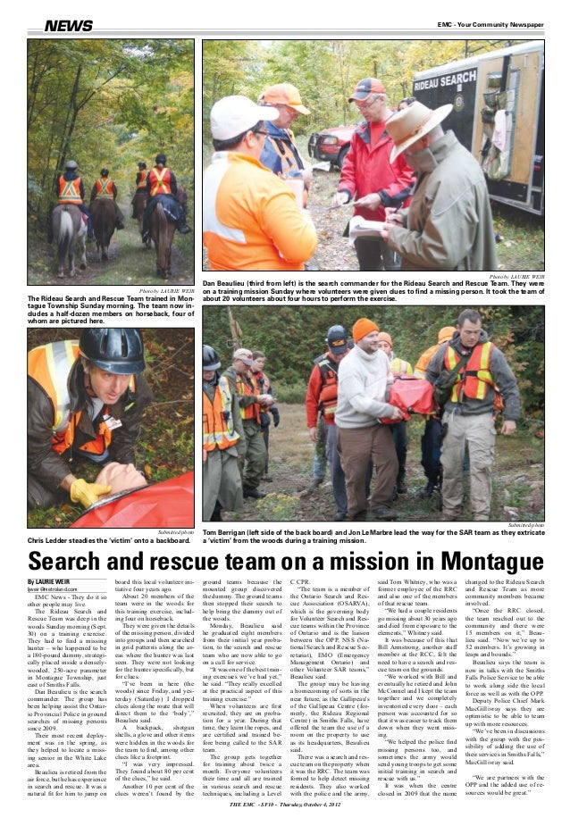 Search and Rescue with Susan Bunge