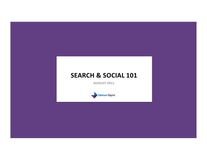 Search & Social 101