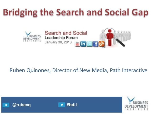 Search and social leadership forum final