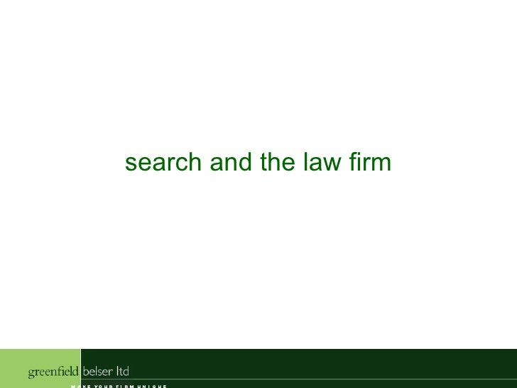 search and the law firm