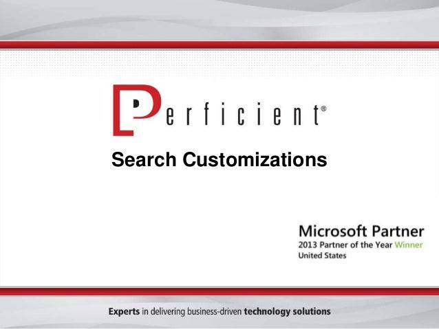 Search Customizations in SharePoint 2013