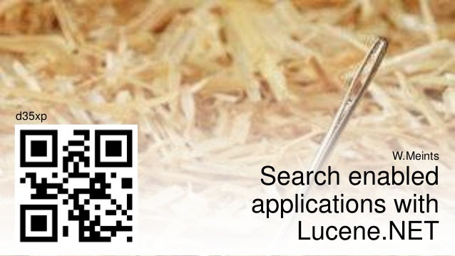 Search enabled applications with lucene.net