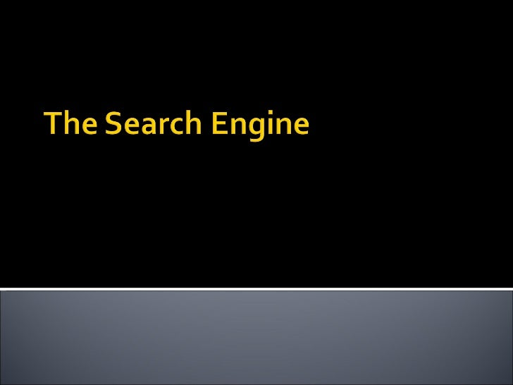 Search engine  -final