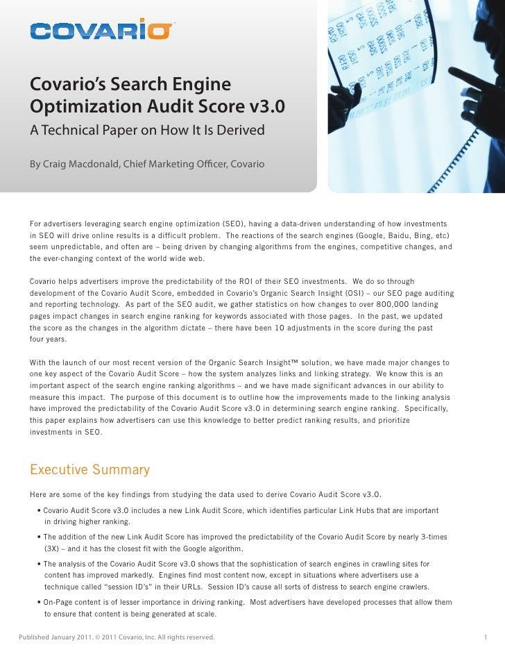 Covario's Search Engine Optimization                                                   TM                                 ...