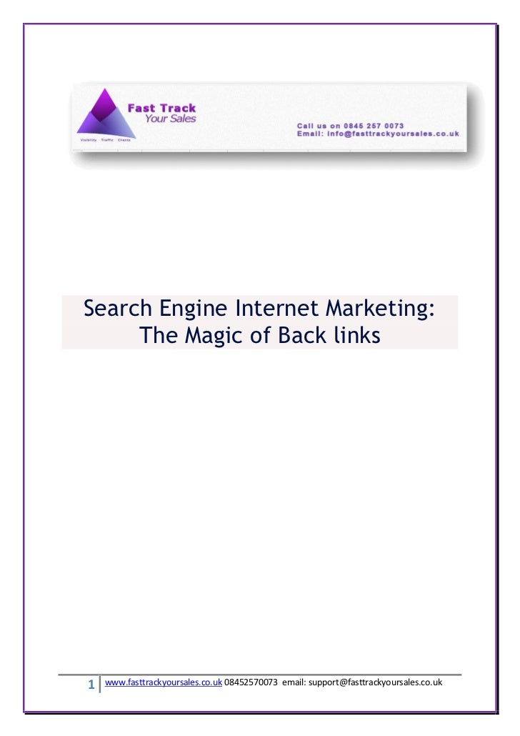 Search engine internet marketing
