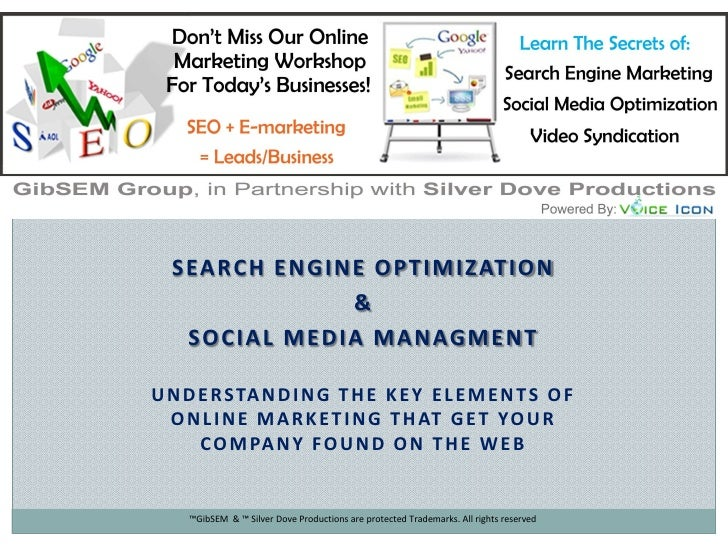 Search Engine Marketing & Social Media Overview