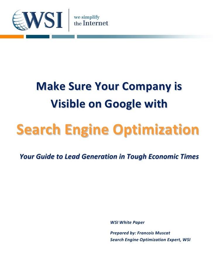 Search Engine Optimisation (WSI - Cyprus)