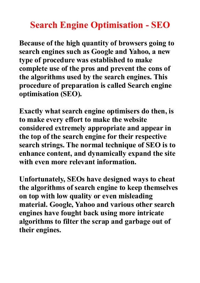Search Engine Optimisation (SEO) & Search Engine Marketing