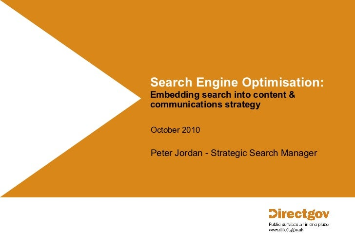 Search engine optimisation: Embedding search into content & communications strategy