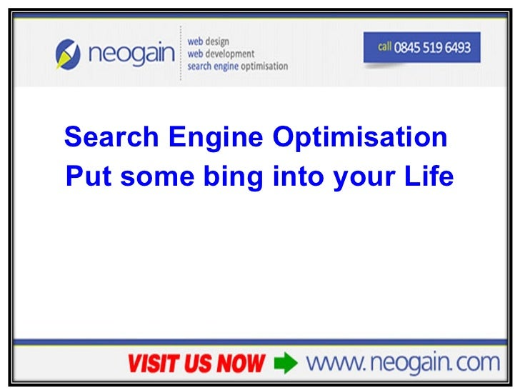 Search Engine Optimisation - Put some bing into your life!