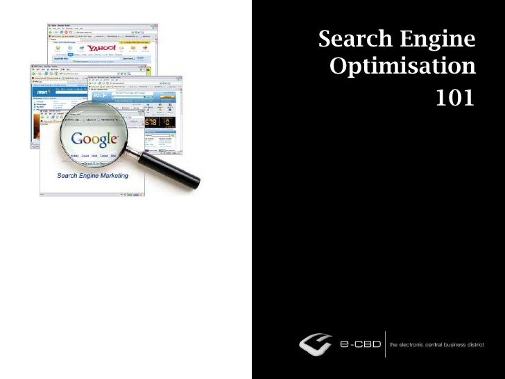 Search Engine Optimisation 101