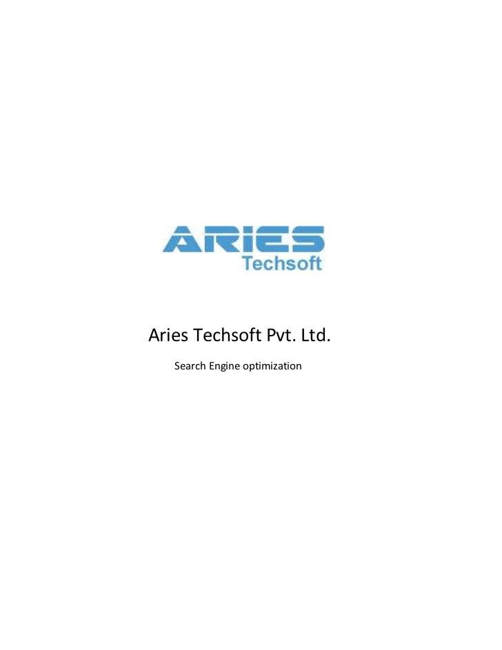 Aries Techsoft Pvt. Ltd.   Search Engine optimization