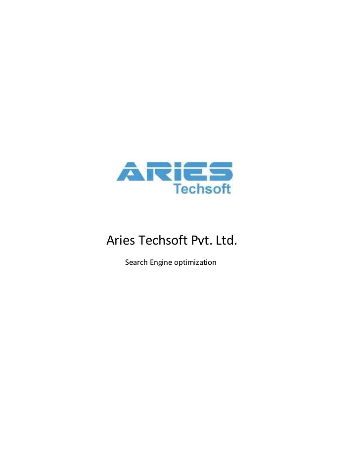 Aries Techsoft Pvt. Ltd.   Search Engine optimization