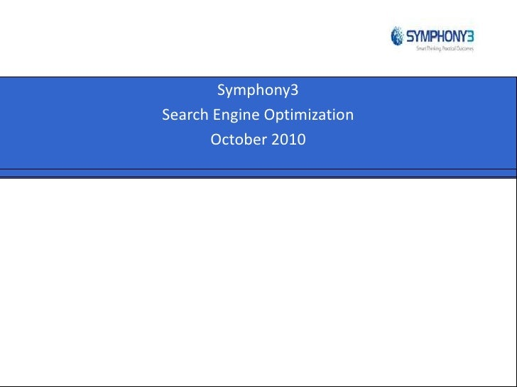 Why do Search Engine Optimization?- Symphony3 - Melbourne