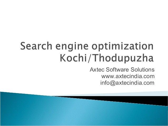 Search engine optimization kochi