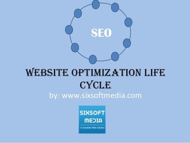 Website optimization life cycle by: www.sixsoftmedia.com SEO
