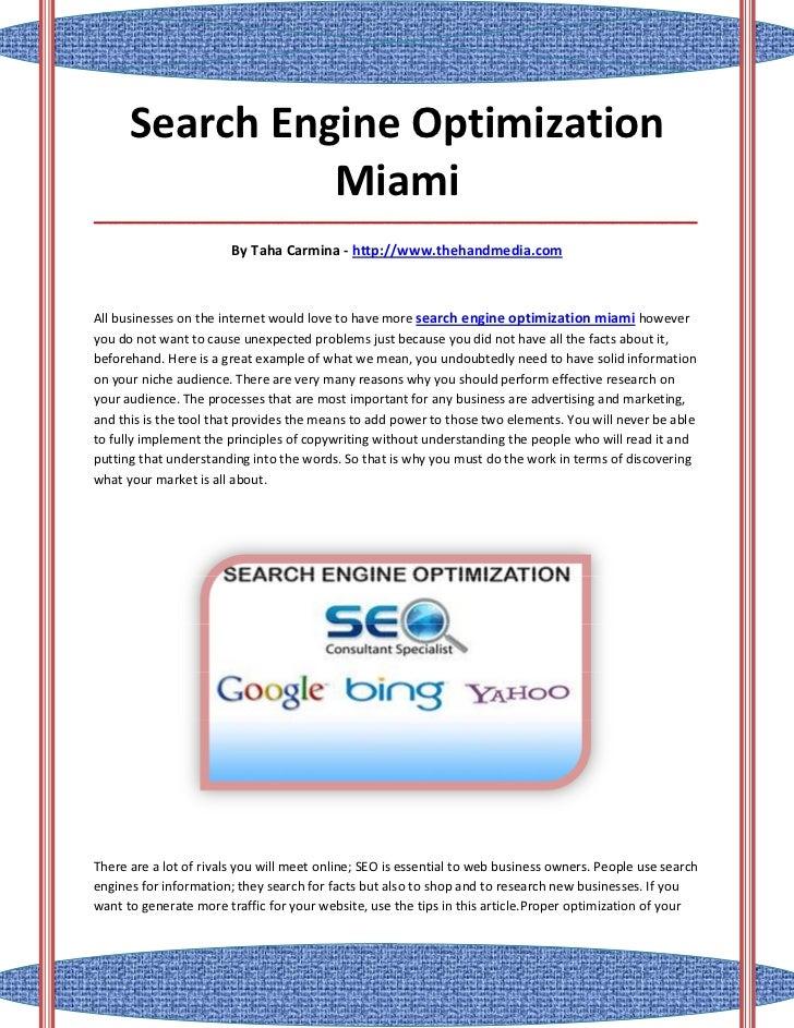 Search Engine Optimization                Miami___________________________________________________________________________...