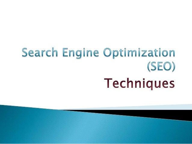 Search engine optimization (seo) process