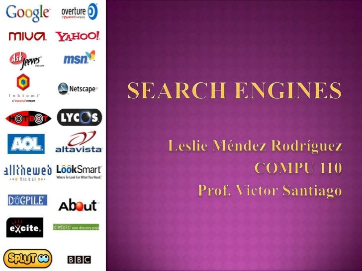  Basically, a search engine is a software program  that searches for sites based on the words that you  designate as sear...