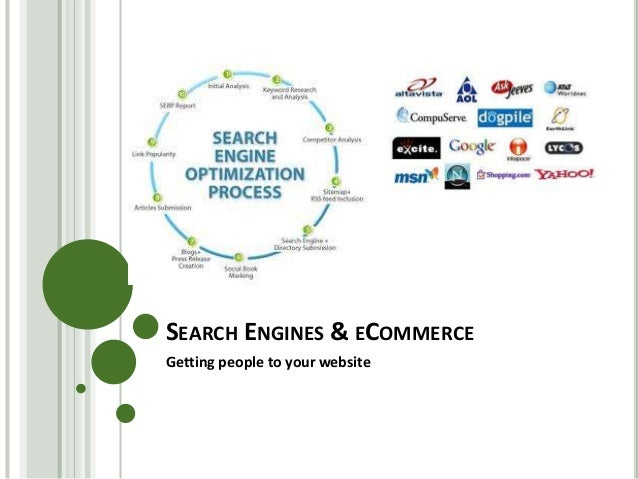 SEARCH ENGINES & ECOMMERCE Getting people to your website