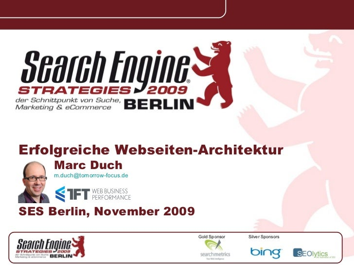 Search engine strategies 2009 berlin, website architecture, marc duch