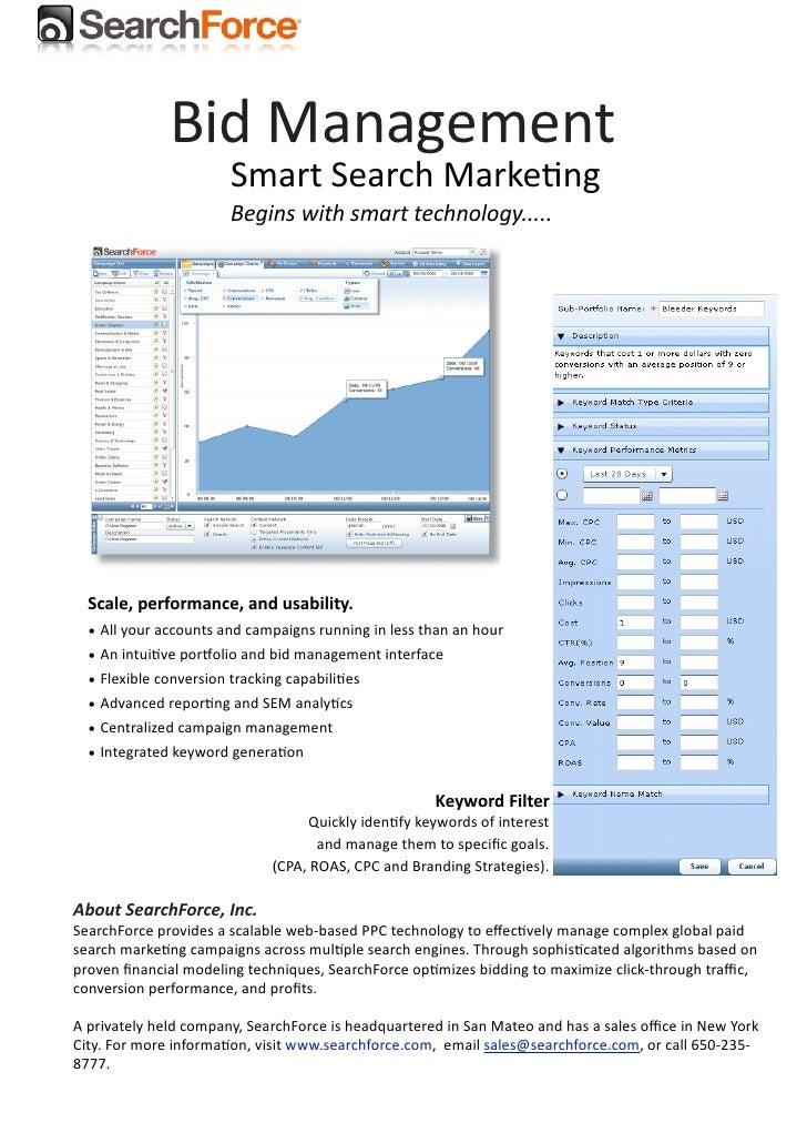PPC Bid Management SearchForce
