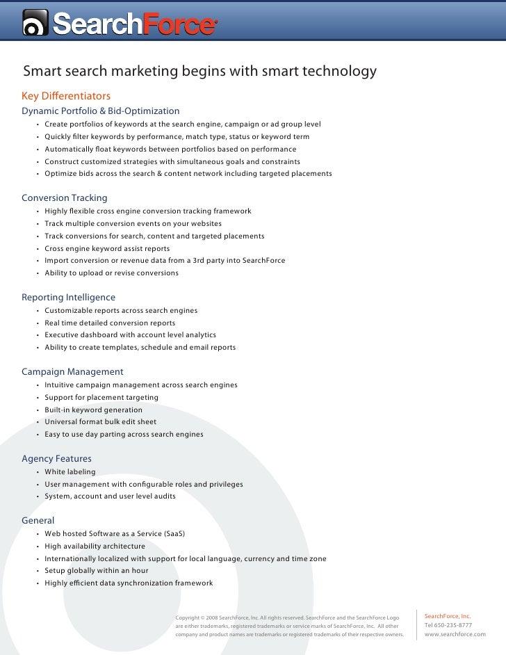 Searchforce Differentiators : PPC Management
