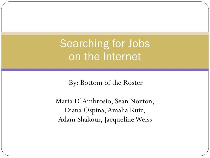 Searching For Jobs On The Internet.New