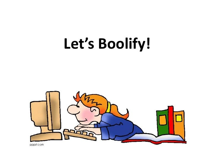 Let's Boolify!