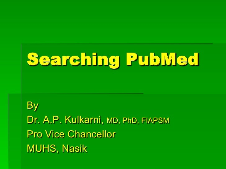 Searching pub med