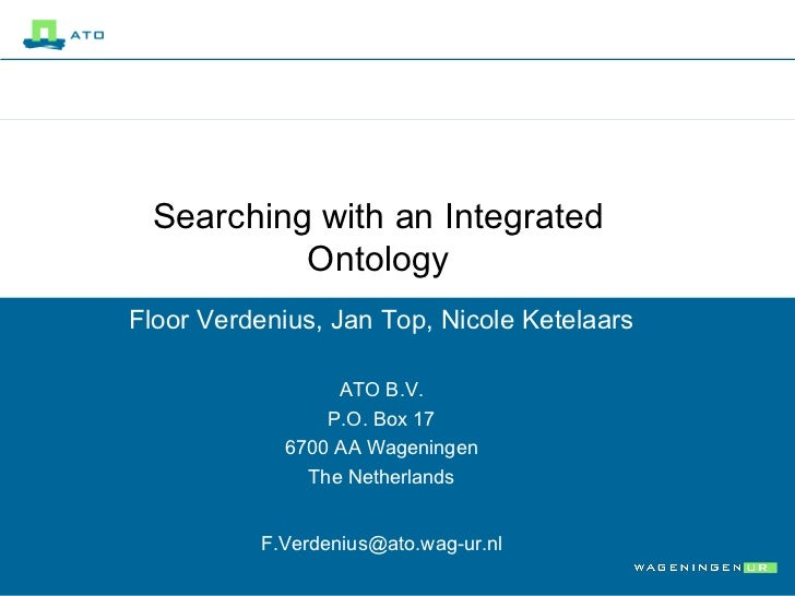 Searching with an integrated ontology