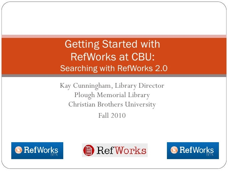 Searching with RefWorks