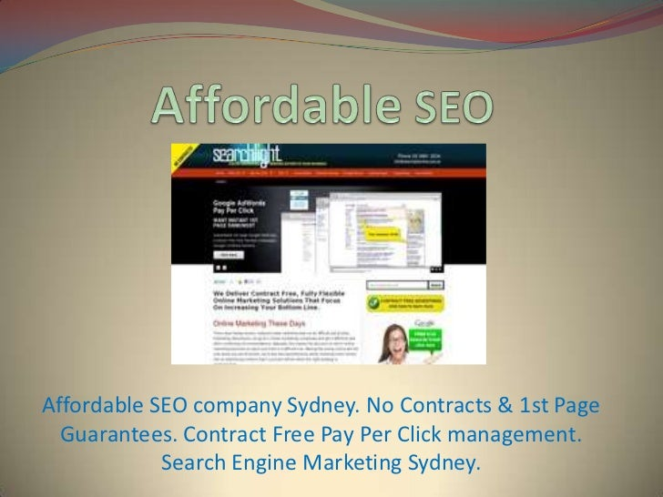Affordable SEO company Sydney. No Contracts & 1st Page  Guarantees. Contract Free Pay Per Click management.            Sea...
