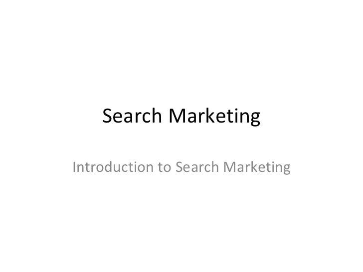 Search marketing Basics