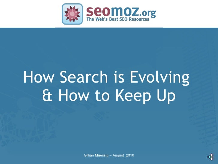 Search marketing - Gillian Muessig (SEOmoz)