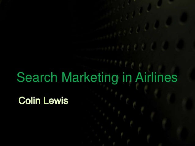 Search Marketing In Airlines