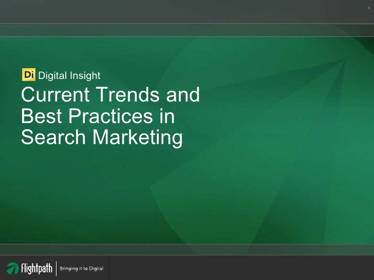 Current Trends and Best Practices in Search Marketing