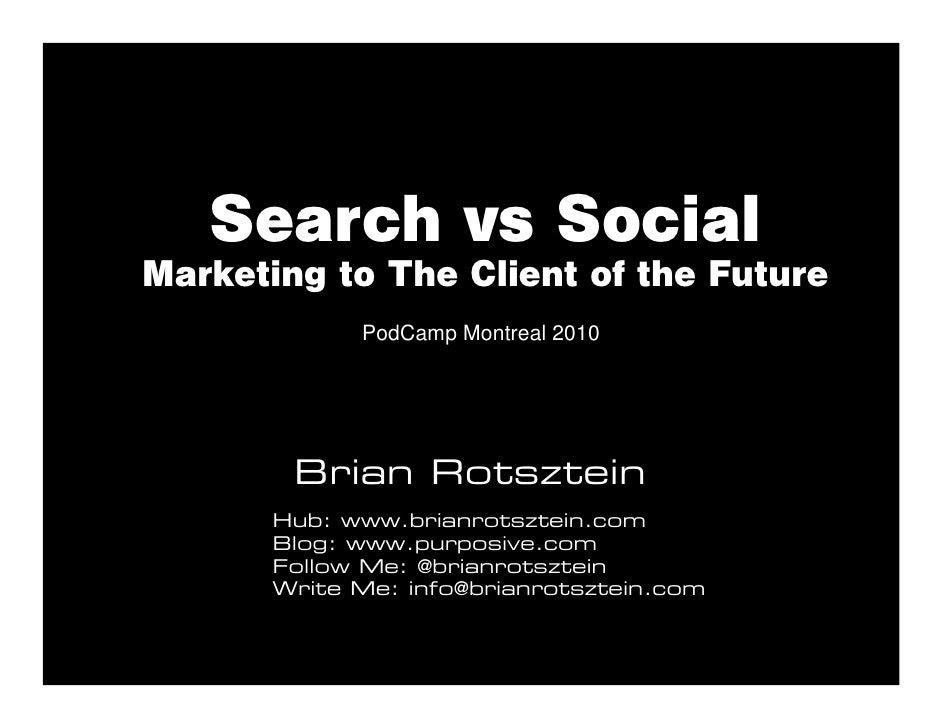Search Marketing vs Social Media