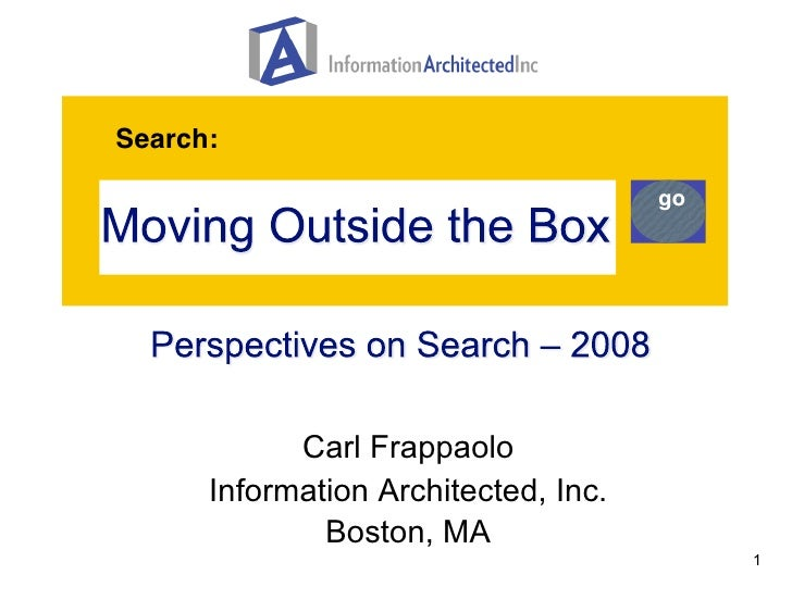 Enterprise Search - Thinking Outside the Box