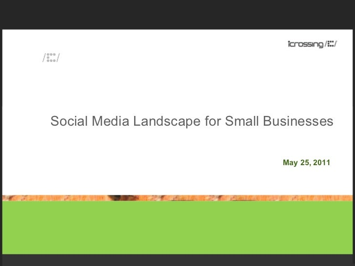 Social Media Landscape for Small Businesses May 25, 2011