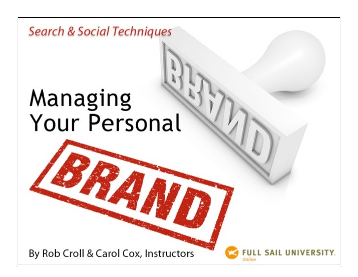 Search & Social for Personal Branding - Presentation by Carol Cox & Rob Croll
