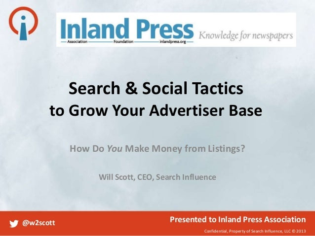 Search & Social Tactics to Grow Your Advertiser Base