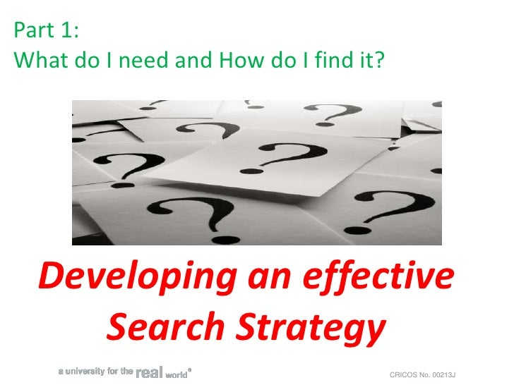 Developing a Search Strategy