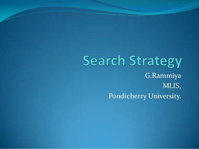 G.Rammiya MLIS, Pondicherry University.