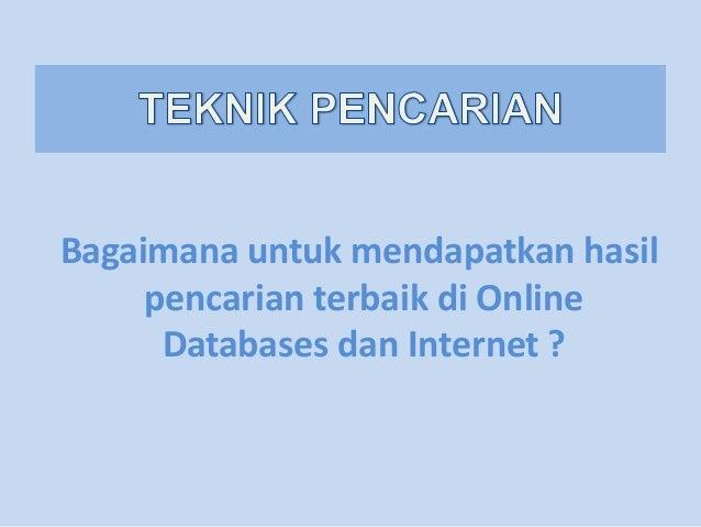 Search technique