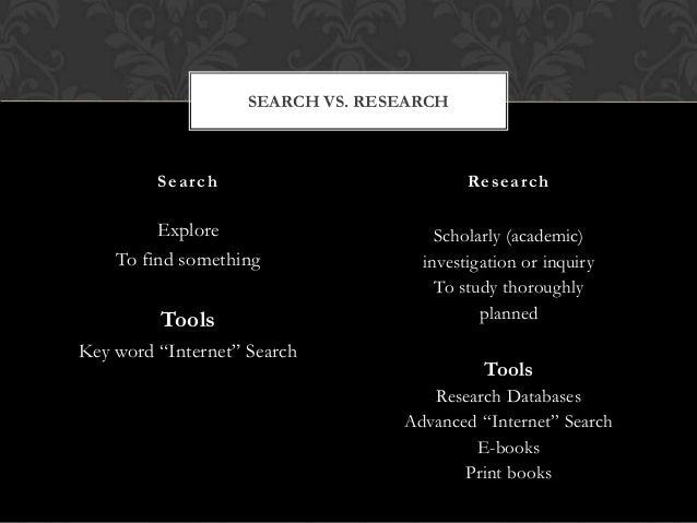 Search vs.research pptx