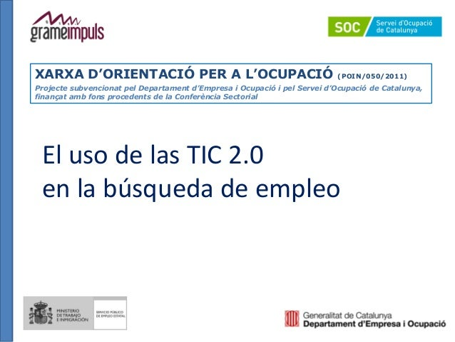 El uso de las TIC 2.0 en la búsqueda de empleo